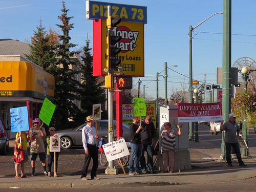 Stop Harper Picket - Sept. 30, 2015