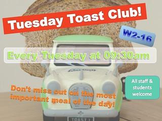 Tuesday Toast Club