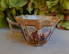 Dresden Porcelain Augustus Rex Quatrefoil Teacup Tea Cup ~ Victorian ~ Horse by Donna's Collectables