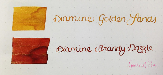 Ink Shot Preview Diamine Shimmer Inks (4)