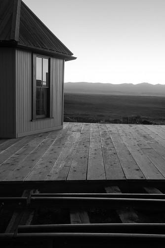 railroad blackandwhite bw como sunrise colorado tracks co depot