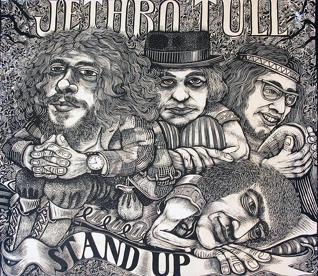 JETHRO TULL STAND UP POP-UP GIMMICK GATEFOLD UK ENGLAND GREEN CHRYSALIS