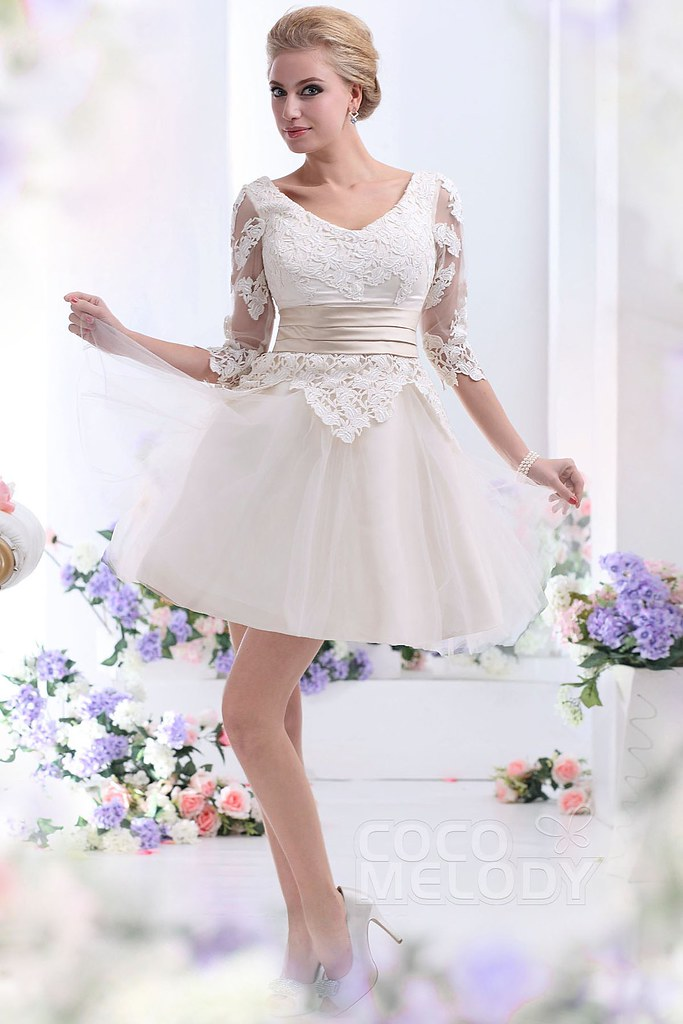 a-line-champagne-short-mini-v-neck-tulle-wedding-dress-b14538-b_2