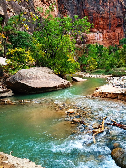 Virgin River, Zion National Park, Utah, USA
