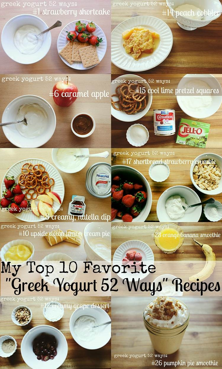"my top 10 favorite ""greek yogurt 52 ways"" recipes"