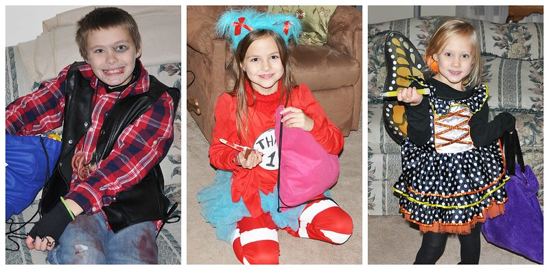 Dylan + Lexie + Lily Trick or Treating