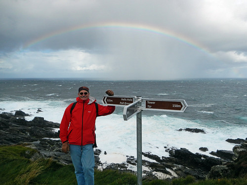 Rainbow over Malin Head in Ireland