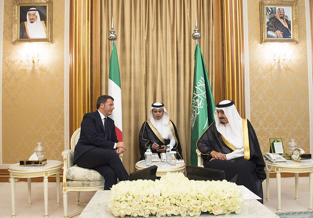 Italian Prime Minister Renzi in Riyadh, Nov 8th-9th 2015