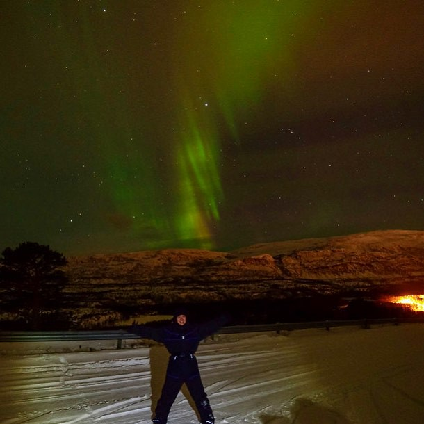 When I hung out under the northern lights in a remote area of northern lapland in Norway.