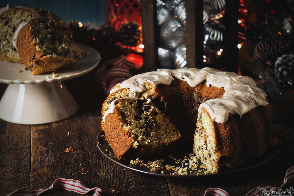 Perfect for the holidays - Browned Butter Coffee Cake with Spiced Maple Cream Cheese Frosting | PasstheSushi.com