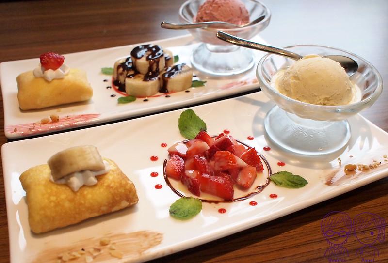 25 藝廊景觀餐廳 法式薄餅+莫凡彼冰淇淋