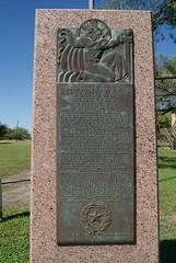 Photo of John White Bower black plaque