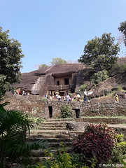 First view of the Kanheri caves.