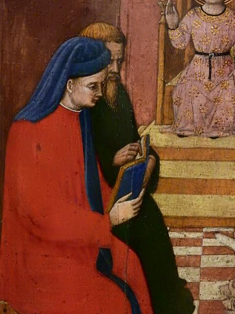 GIOVANNI FRANCESCO DA RIMINI (Attribué),1440-50 - Vie de la Vierge, Jésus parmi les Docteurs (Louvre) - Detail 12