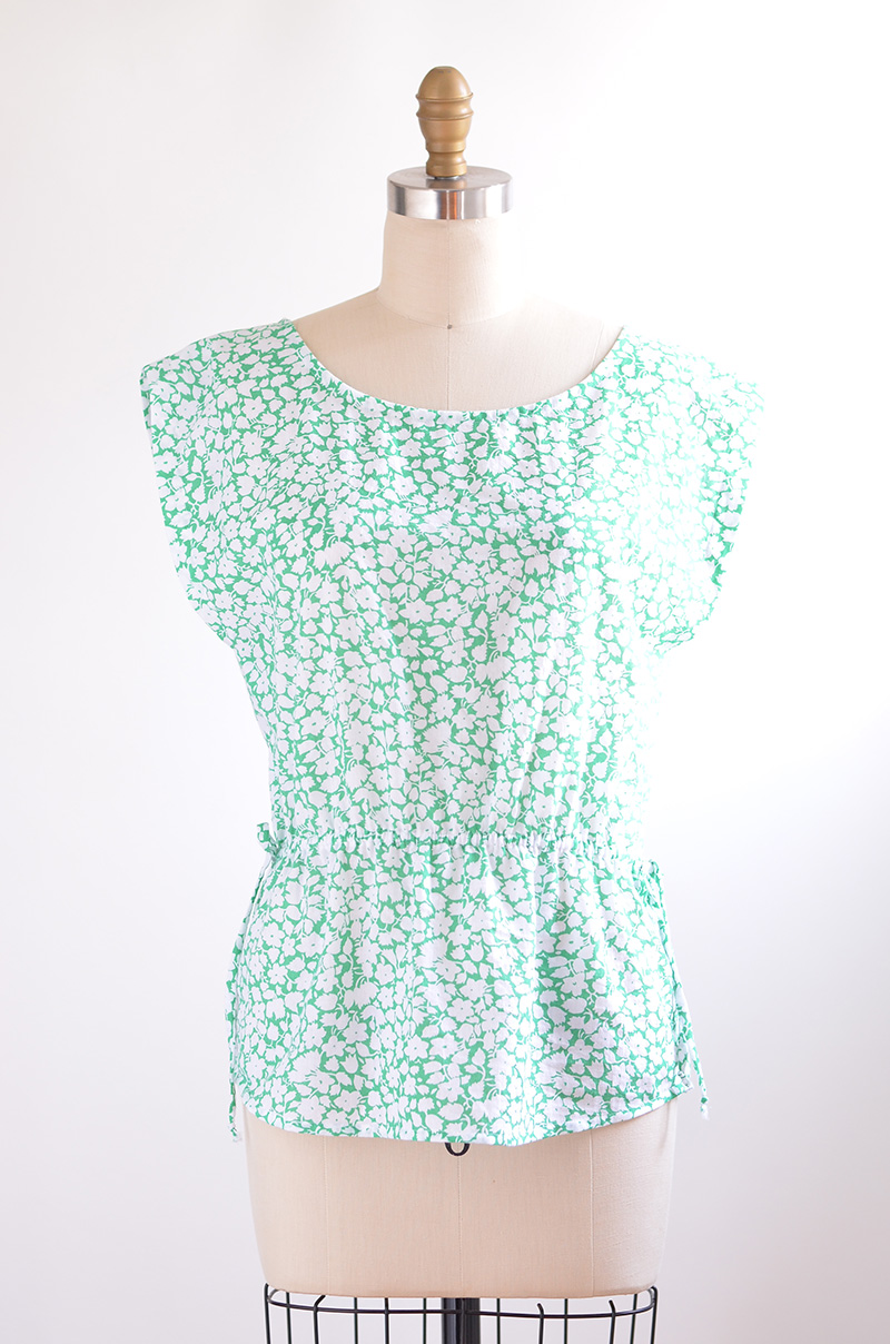 Green Floral Handmade Top 2