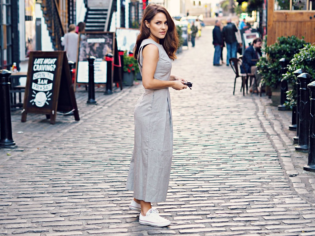 ASOS grey culotte jumpsuit