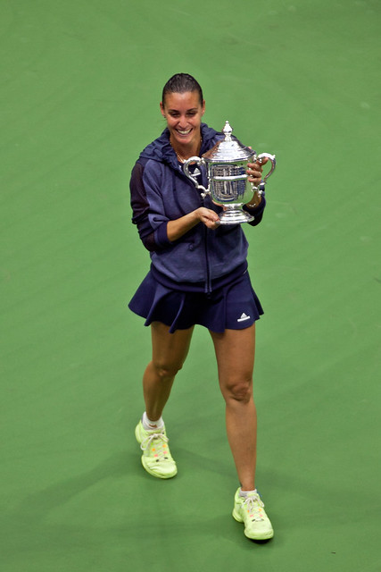 US Open Pennetta trophy