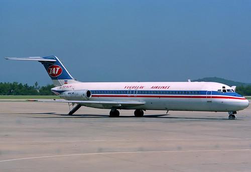 JAT DC-9-32 YU-AJH GRO 29/06/1990