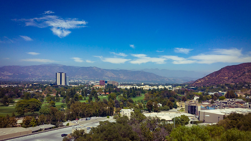 Great landscape surrounding the Universal Studios