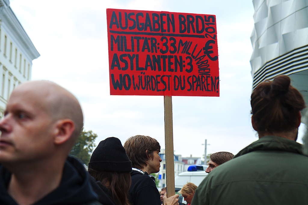 Counter demonstrators near a LEGIDA rally on 10-5-15--Leipzig 3