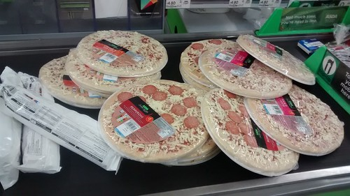 Pizzas at supermarket Oct 15