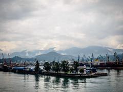 2014 Géorgie. Arrivée à Batumi en bâteau-cargo