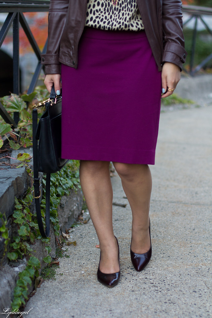 purple pencil skirt, leopard blouse, leather jacket-9.jpg
