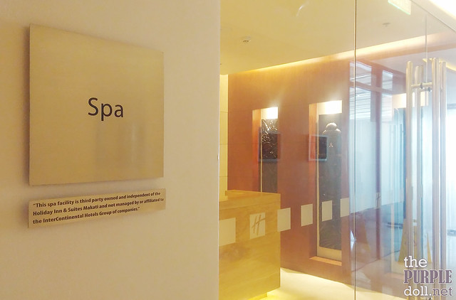 Spa Entrance at Holiday Inn & Suites Makati