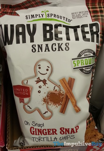 Simply Sprouted Way Better Snacked Ginger Snap Tortilla Chips