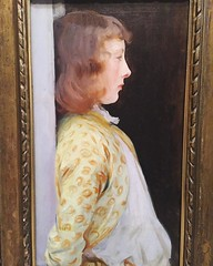 This portrait of Dorothy Barnard (1889) by John Singer Sargent that is displayed in the Fitzwilliam museum in Cambridge must have been the the inspiration for that one shot of Saoirse Ronan in the film Atonement.
