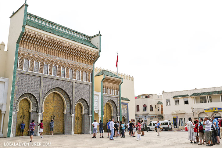 The Famous Doors at the Golden Gates of Palais Royale Fes Morocco.