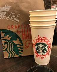 Bought some #holiday reusable cups