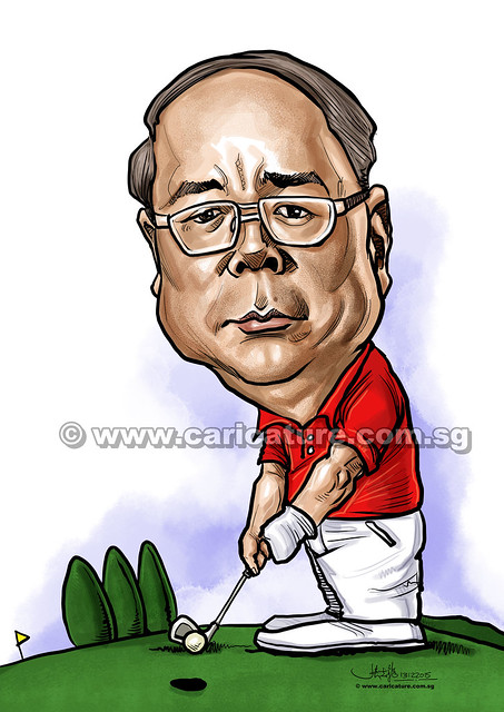golfer digital caricature for Mastercard -1 (watermarked)