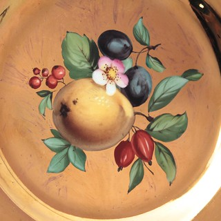 Meissen, Teller, Goldfond, Früchtemalerei, Obstmalerei