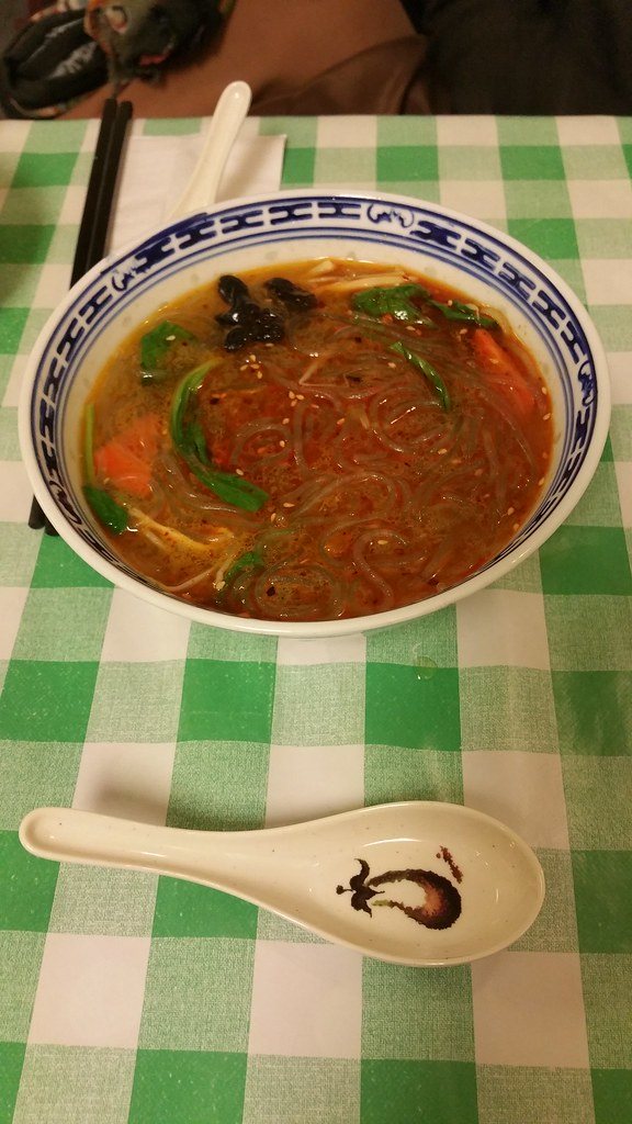 2015-Nov-26 Sunny Spot Cafe glass noodles in hot and sour soup