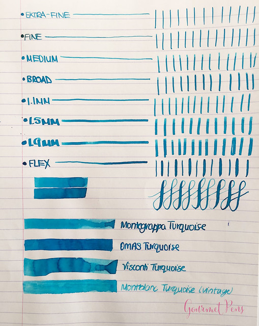 Ink Shot Review Montegrappa Turquoise Ink @GouletPens @TheMontegrappa (2)