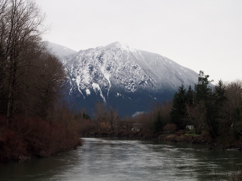 Mountains Over Snoqualmie River