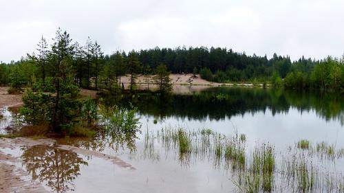 summer reflection finland geotagged pond july fin seinäjoki sandpit 2015 eteläpohjanmaa ylistaro 201507 kokkokangas 20150709 geo:lat=6307910182 geo:lon=2259037972