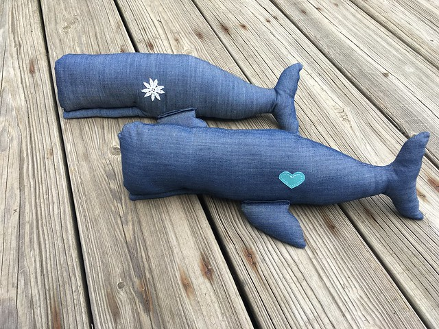 Ahoy! Stuffed Whales from Tilda\'s Seaside Ideas | Pattern and Branch
