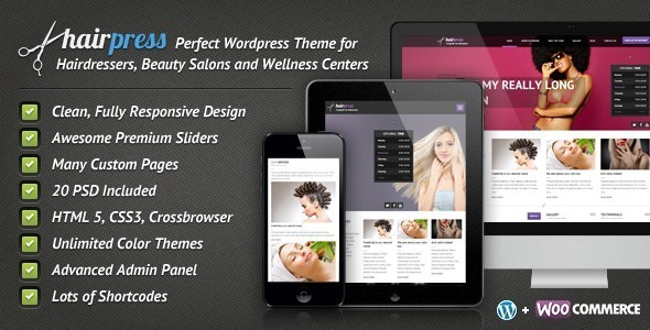 Hairpress v4.8.3 - WordPress Theme for Hair Salons