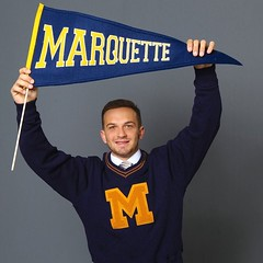 Stand up, #Marquette! Click link in our bio for 16 reasons to be an #mubb fanatic. Photo by @marquette.basketball. #WeAreMarquette