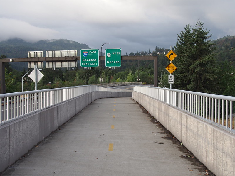 I-90 Overpass: The easiest way to cross the I-90 & SR-900 interchange.