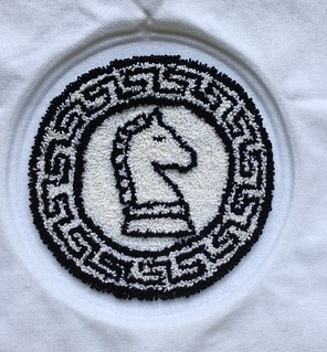 Needlepunch embroidery knight