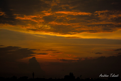 Sunset in Delhi after Rains