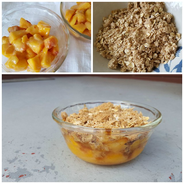 Fresh Peach Crisp for Two