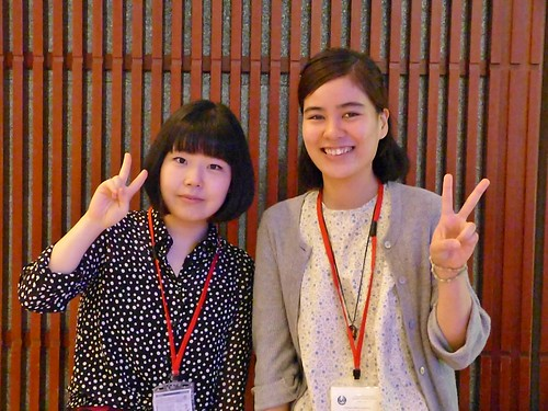 Two Reliable Assistants: Ayumi Fujiwara (left) and Erika Kato were always ready to help with IT, directions, translations, and myriad other necessities during the entire conference. Thanks to them and the rest of the staff everything worked!