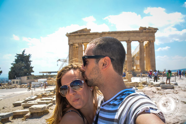 A Cruising Couple The Acropolis Athens Greece