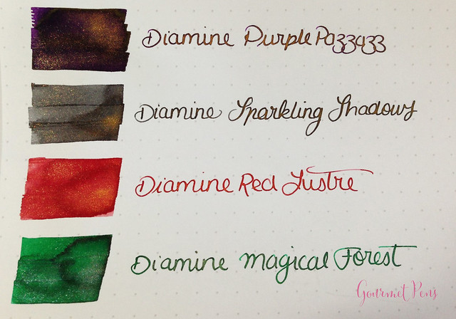 Ink Shot Preview Diamine Shimmer Inks (3)