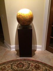 Ebonized Walnut Veneer Pedestals