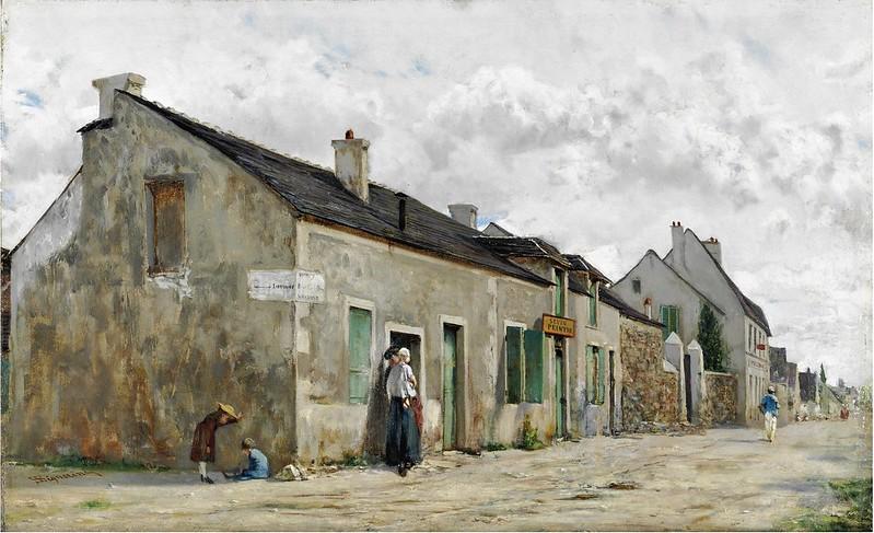 Telemaco Signorini - Strada di paese a sud di Parigi (c.1873)